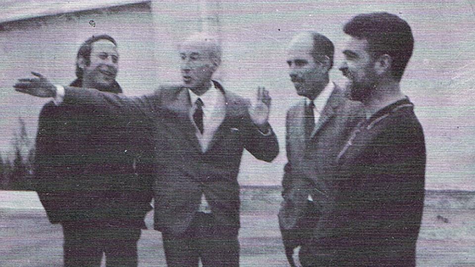 Con Gerardo Diego, Barjola y Angel Medina