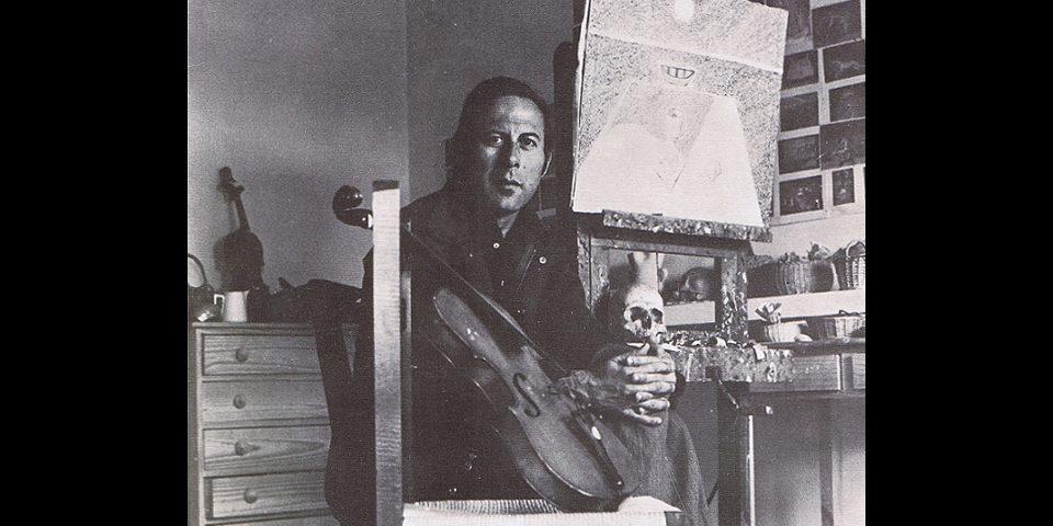 Cristino de Vera en su estudio de Madrid. Retrato realizado por Juan Dolcet