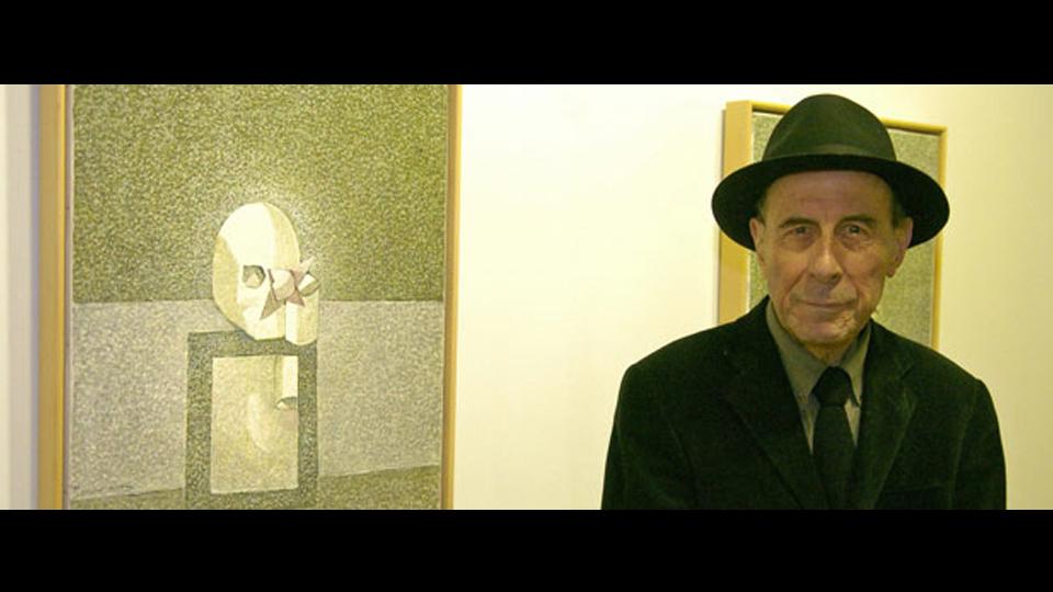 Cristino de Vera en la exposición Vanitas